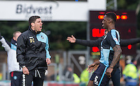 Darrell Clarke manager of Bristol Rovers vents his anger during the Sky Bet League 2 match between Wycombe Wanderers and Bristol Rovers at Adams Park, High Wycombe, England on 27 February 2016. Photo by Andrew Rowland.