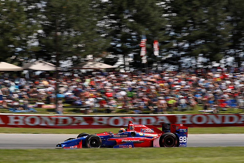 Verizon IndyCar Series<br /> Honda Indy 200 at Mid-Ohio<br /> Mid-Ohio Sports Car Course, Lexington, OH USA<br /> Sunday 30 July 2017<br /> Alexander Rossi, Andretti Herta Autosport with Curb-Agajanian Honda<br /> World Copyright: Michael L. Levitt<br /> LAT Images