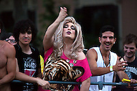 Participants in the parade of the Gay Pride in Madrid 2013