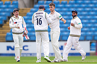 Picture by Alex Whitehead/SWpix.com - 23/04/2018 - Cricket - Specsavers County Championship Div One - Yorkshire v Nottinghamshire, Day 4 - Emerald Headingley Stadium, Leeds, England - Yorkshire's Ben Coad celebrates the wicket of Notts' Jake Ball.