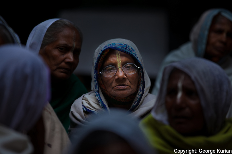 In Vrindavan, India, one of Hinduism's holiest cities, widows from across the country come to live out the rest of their lives in convent like ashrams, where they spend their time singing hymns to Krishna, the god of love.<br />