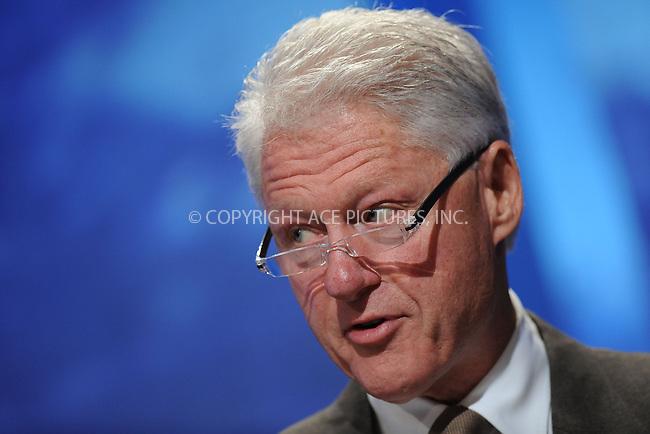 WWW.ACEPIXS.COM . . . . . ....September 23 2009, New York City....Former US President Bill Clinton speaking at the Clinton Global Initiative on September 23 2009 in New York City....Please byline: KRISTIN CALLAHAN - ACEPIXS.COM.. . . . . . ..Ace Pictures, Inc:  ..tel: (212) 243 8787 or (646) 769 0430..e-mail: info@acepixs.com..web: http://www.acepixs.com