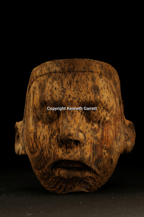 Greatest Aztecs, MM7677,  Mexico City, Mexico, NMAH,  Tenochtitlan, Aztec, Tomb of Ahuitzotl, wooden mask, offering to gods