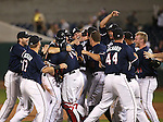 The Reno Aces celebrate the Pacific Conference Championship after defeating the Las Vegas 51s, 7-3, in Reno, Nev., on Saturday, Sept. 6, 2014.<br /> Photo by Cathleen Allison