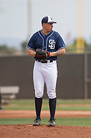 San Diego Padres starting pitcher Lake Bachar (85) during a Minor League Spring Training game against the Seattle Mariners at Peoria Sports Complex on March 24, 2018 in Peoria, Arizona. (Zachary Lucy/Four Seam Images)