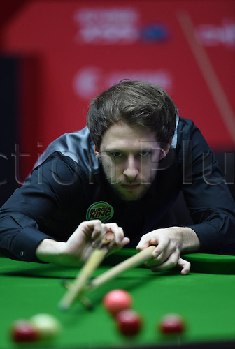 03.04.2016. Beijing, China.  Judd Trump of England takes a shot during the final of the 2016 World Snooker China Open Tournament against his compatriot Ricky Walden in Beijing,  China, April 3, 2016. Judd Trump won 10-4.