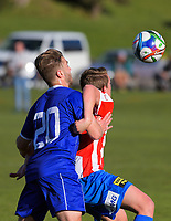 Action from the Central League football match between Western Suburbs and Napier City Rovers at Endeavour Park in Wellington, New Zealand on Sunday, 11 June 2017. Photo: Dave Lintott / lintottphoto.co.nz