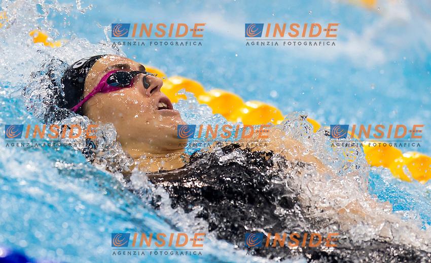 ZOFKOVA Carlotta ITA<br /> London, Queen Elizabeth II Olympic Park Pool <br /> LEN 2016 European Aquatics Elite Championships <br /> Swimming<br /> Women's 100m backstroke semifinal  <br /> Day 10 18-05-2016<br /> Photo Giorgio Perottino/Deepbluemedia/Insidefoto