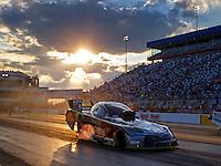 Sep 16, 2016; Concord, NC, USA; NHRA funny car driver Alexis DeJoria during qualifying for the Carolina Nationals at zMax Dragway. Mandatory Credit: Mark J. Rebilas-USA TODAY Sports