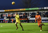 Fleetwood Town's Dean Marney competing with Luton Town's James Justin<br /> <br /> Photographer Andrew Kearns/CameraSport<br /> <br /> The EFL Sky Bet League One - Luton Town v Fleetwood Town - Saturday 8th December 2018 - Kenilworth Road - Luton<br /> <br /> World Copyright &copy; 2018 CameraSport. All rights reserved. 43 Linden Ave. Countesthorpe. Leicester. England. LE8 5PG - Tel: +44 (0) 116 277 4147 - admin@camerasport.com - www.camerasport.com