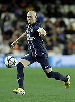 Paris Saint-Germain's Christophe Jallet during Champions League 2012/2013 match.February 12,2013. (ALTERPHOTOS/Acero) /NortePhoto