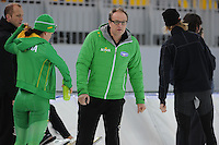 SPEEDSKATING: SOCHI: Adler Arena, 19-03-2013, Training, Jac Orie (trainer/coach Team BrandLoyalty/Activia), © Martin de Jong