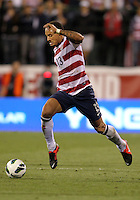 COLUMBUS, OHIO - SEPTEMBER 11, 2012:  Jermaine Jones (13) of the USA MNT pushes forward against Jamaica during a CONCACAF 2014 World Cup qualifying  match at Crew Stadium, in Columbus, Ohio on September 11. USA won 1-0.