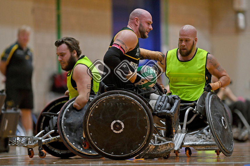 Chris Bond (AUS)<br /> Australian Steelers WC Training Camp<br /> Australian Wheelchair Rugby Team<br /> Australian Paralympic Committee<br /> Darwin NT / NTIS Stadium<br /> Wednesday 18 July 2018<br /> © Sport the library / Jeff Crow