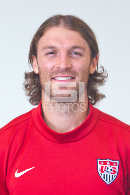 CARSON, California - January 17, 2013: US Men's National Team headshots during their annual winter training camp at Home Depot Center.