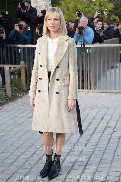 Michelle Williams attend Louis Vuitton Show Front Row - Paris Fashion Week  2016.<br /> October 7, 2015 Paris, France<br /> Picture: Kristina Afanasyeva / Featureflash