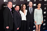 """English actress Emma Watson, centre, US director Darren Aronofsky, (2R), and US actress Jennifer Connelly, right, attend the Premiere of the movie """"Noah"""" in Madrid. March 17, 2014. (ALTERPHOTOS/Carlos Dafonte)"""