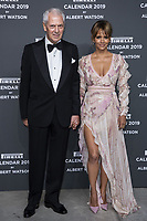 """Marco Tronchetti Provera (Pirelli's President), Halle Berry attend the gala night for official presentation of the Presentation of the Pirelli Calendar 2019 """"The cal"""" held at the Hangar Bicocca. Milan (Italy) on december 5, 2018. Credit: Action Press/MediaPunch ***FOR USA ONLY***"""