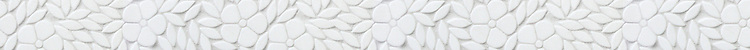 """4"""" Jacqueline border, a waterjet mosaic shown in tumbled Thassos, is part of the Silk Road® collection by New Ravenna."""