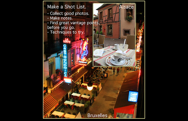 Make a Shot List.<br />