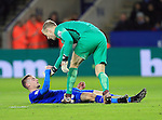 Leicester's Jamei Vardy gets consoled by Manchester City's Joe Hart after a missed chance<br /> <br /> Barclays Premier League- Leicester City vs Manchester City - King Power Stadium - England - 29th December 2015 - Picture - David Klein/Sportimage
