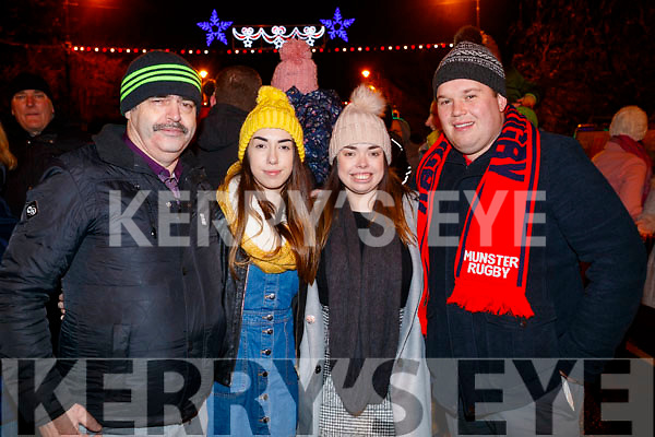 John, Roisin, Rebecca Cirtin and Michael Collins, Tralee at the Fireworks in Tralee on New Years Eve.