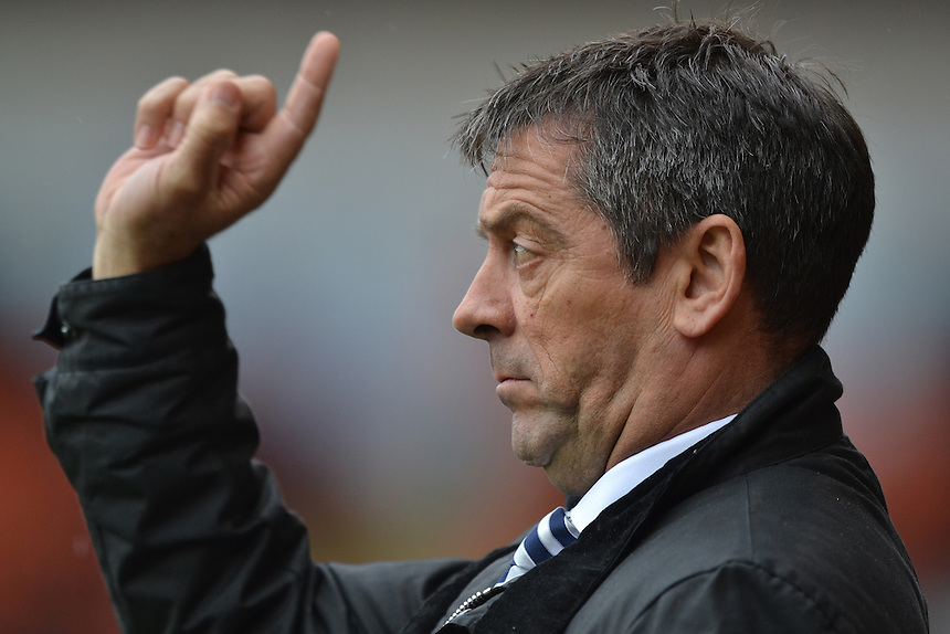 Southend United's Manager Phil Brown<br /> <br /> Photographer Bethany Hankey/CameraSport<br /> <br /> Football - The Football League Sky Bet League One - Blackpool v Southend United - Saturday 2nd April 2016 - Bloomfield Road    <br /> <br /> &copy; CameraSport - 43 Linden Ave. Countesthorpe. Leicester. England. LE8 5PG - Tel: +44 (0) 116 277 4147 - admin@camerasport.com - www.camerasport.com