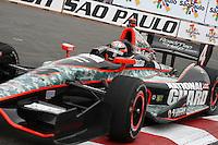 SAO PAULO, SP, 05 DE MAIO DE 2013 - INDY 300 SP - WARM-UP - Jr Hildebrand na São Paulo Indy 300 realizada na tarde deste domingo (05) no circuito de rua do Anhembi, zona norte da cidade.  FOTO: MAURICIO CAMARGO / BRAZIL PHOTO PRESS.