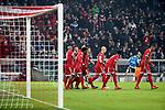 20.02.2018, Allianz Arena, München, GER, UEFA CL, FC Bayern München (GER) vs Besiktas Istanbul (TR) , im Bild<br />Kingsley Coman (München) freut sich über sein Tor zum 2:0<br /><br /><br /> Foto © nordphoto / Bratic