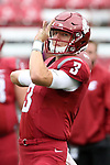 Tyler Hilinski, Washington State University quarterback, warms up during the Cougars non-conference game against their neighbors from the University of Idaho on September 17, 2016.   The Cougs defeated the Vandals at Martin Stadium, 56-6.