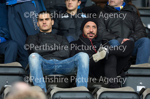 St Johnstone v Motherwell&hellip;20.02.16   SPFL   McDiarmid Park, Perth<br />Bulgarian Plamen Krachuno and former Real Madrid player Julien Faubert who are on trial with St Johnstone<br />Picture by Graeme Hart.<br />Copyright Perthshire Picture Agency<br />Tel: 01738 623350  Mobile: 07990 594431