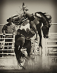 Bareback bronc riding gets wild in the small town of Keenesburg, Colorado.