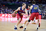 Real Madrid's Sergio Llull and FC Barcelona Lassa's Brad Oleson and Ante Tomic during Liga Endesa match between Real Madrid and FC Barcelona Lassa at Wizink Center in Madrid, Spain. March 12, 2017. (ALTERPHOTOS/BorjaB.Hojas)