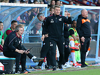 Scunthorpe United caretaker manager Andy Dawson shouts instructions to his team<br /> <br /> Photographer David Shipman/CameraSport<br /> <br /> The EFL Sky Bet League One - Scunthorpe United v Blackpool - Friday 19th April 2019 - Glanford Park - Scunthorpe<br /> <br /> World Copyright © 2019 CameraSport. All rights reserved. 43 Linden Ave. Countesthorpe. Leicester. England. LE8 5PG - Tel: +44 (0) 116 277 4147 - admin@camerasport.com - www.camerasport.com