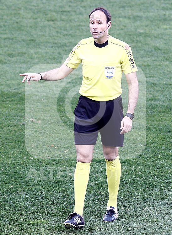 Spanish referee Antonio Miguel Mateu Lahoz during La Liga match. February 26,2017. (ALTERPHOTOS/Acero)