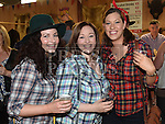 Derry Burke, Siobhan Dwyer and Deirdre Rooney at the charity barn dance in Cushinstown Athletic Club. Photo:Colin Bell/pressphotos.ie