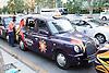A taxi bearing the logo of Eurovision 2012