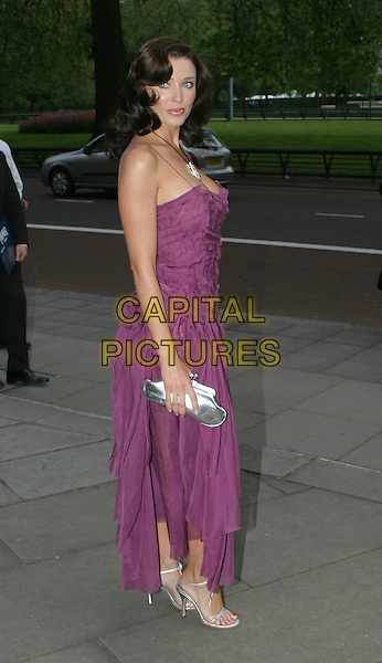 DANNII MONOGUE.Sony Radio Academy Awards.full length, full-length, purple dress, silver handbag, flowing.www.capitalpictures.com.sales@capitalpictures.com.© Capital Pictures.