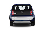 Straight rear view of a 2014 Volkswagen up! Cross up! 5 Door Hatchback 2WD Rear View  stock images