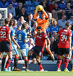 Wes Foderingham makes his 100th appearance for Rangers and saves from El Bakhtaoui
