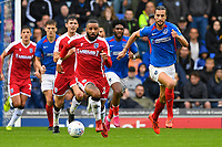 Petar Durin of Portsmouth breaks out of defence during Portsmouth vs Gillingham, Sky Bet EFL League 1 Football at Fratton Park on 12th October 2019