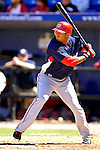 17 March 2007: Washington Nationals infielder Felipe Lopez in action against the New York Mets at Tradition Field in Port St. Lucie, Florida...Mandatory Photo Credit: Ed Wolfstein Photo