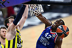 Turkish Airlines Euroleague.<br /> Final Four - Vitoria-Gasteiz 2019.<br /> Semifinals.<br /> Fenerbahce Beko Istanbul vs Anadolu Efes Istanbul: 73-92.<br /> Jan Vasely vs Bryant Dunston.