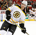 Boston Bruins Daniel Paille (20) during a game against the Carolina Hurricanes on January 28, 2013 at PNC Arena in Charlotte, NC. The Bruins beat the Hurricanes 5-3.