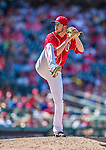 1 June 2014: Washington Nationals pitcher Jerry Blevins on the mound against the Texas Rangers at Nationals Park in Washington, DC. The Rangers shut out the Nationals 2-0 to salvage the third the third game of their 3-game inter-league series. Mandatory Credit: Ed Wolfstein Photo *** RAW (NEF) Image File Available ***