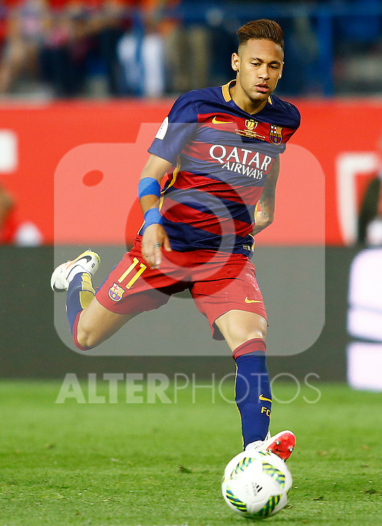 FC Barcelona's Neymar Santos Jr during Spanish Kings Cup Final match. May 22,2016. (ALTERPHOTOS/Acero)