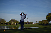 Marc Leishman (AUS) watches his tee shot on 12 during round 2 of the Arnold Palmer Invitational at Bay Hill Golf Club, Bay Hill, Florida. 3/8/2019.<br /> Picture: Golffile | Ken Murray<br /> <br /> <br /> All photo usage must carry mandatory copyright credit (&copy; Golffile | Ken Murray)