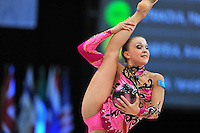 Marina Petrakova of Kazakhstan performs at 2010 World Cup at Portimao, Portugal on March 13, 2010.  (Photo by Tom Theobald).