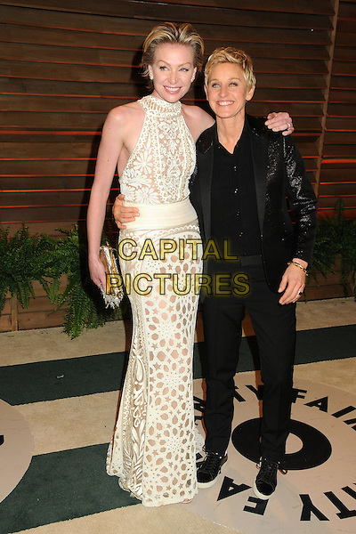 02 March 2014 - West Hollywood, California - Portia de Rossi, Ellen DeGeneres. 2014 Vanity Fair Oscar Party following the 86th Academy Awards held at Sunset Plaza.  <br /> CAP/ADM/BP<br /> &copy;Byron Purvis/AdMedia/Capital Pictures