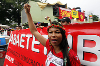 BELEM, PA, 31.03.2016 - PROTESTO-PA - Manifestantes fazem ato pela democracia no centro da cidade de Belem nesta quinta-feira, 31. (Foto: Lucivaldo Sena/Brazil Photo Press)